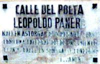 Calle del poeta Leopoldo Panero (Astorga)