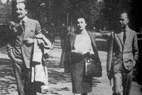 Leopoldo Panero, Felicidad Blanc y Luis Cernuda, paseando en Londres