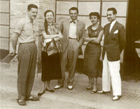 El recluta Valente: José Angel, Emilia Palomo, su primera mujer, Jacinto López Gorgé (que facilitó la foto), Muhammad Sabbag y Dora Bacaicoa