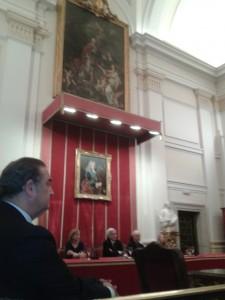 CONFERENCIA DE BILL VIOLA Y KIRA PEROV EN EL SALÓN DE LA ACADEMIA DE BELLAS ARTES