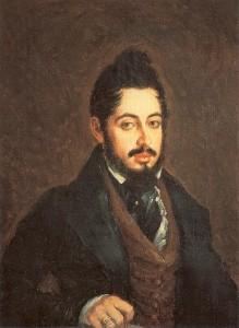 Retrato de Mariano José de Larra, 1837, Autor: José Gutiérrez de la Vega. Óleo sobre lienzo, 76,3 x 63,3 cm. Museo del Romanticismo de Madrid